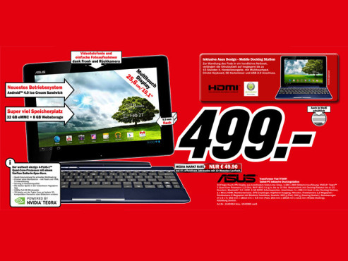 Transformer Pad TF300T © Media Markt
