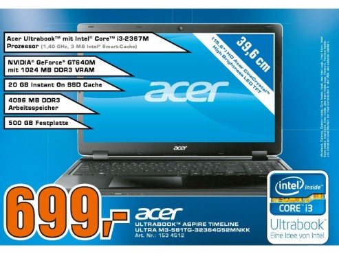 Acer Aspire Timeline Ultra M3-581TG-32364G52Mnkk (NX.RYKEG.009) ©Saturn