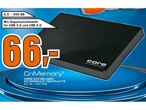 CnMemory 2.5 Core USB 3.0 500GB ©Saturn