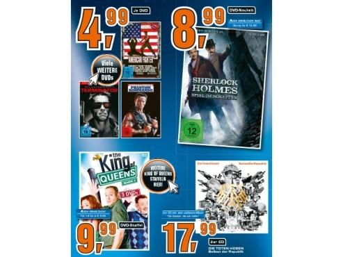 Diverse CDs und DVDs ©Saturn