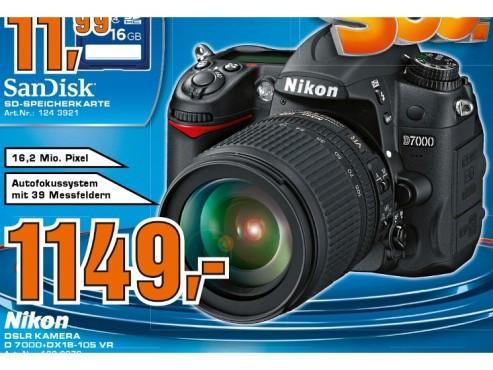 Nikon D7000 Kit 18-105 mm ©Saturn