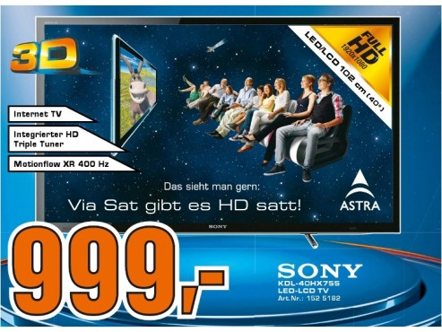 Sony KDL-40HX755 ©Saturn