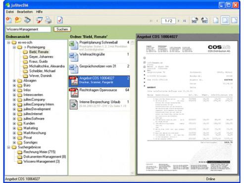 Screenshot DMS-Programm JulitecDM ©COMPUTER BILD