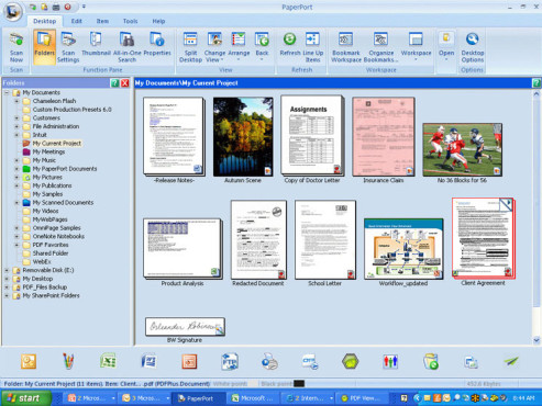 Screenshot DMS-Programm Paperport ©COMPUTER BILD