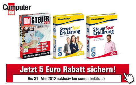 F�nf Euro Rabatt auf Steuersparprogramme ©Akademische Arbeitsgemeinschaft Verlag