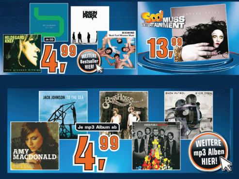 Diverse Musik-CDs ©Saturn