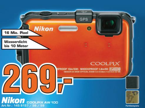 Nikon COOLPIX AW100 ©Saturn