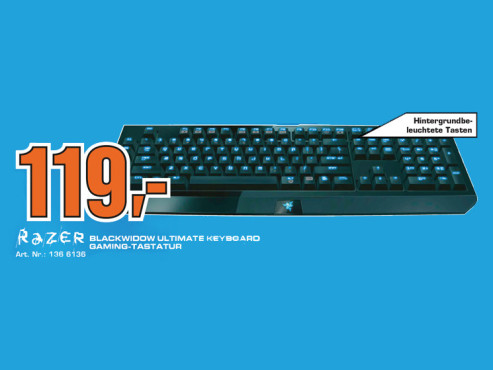 Razer BlackWidow Ultimate Tastatur DE ©Saturn