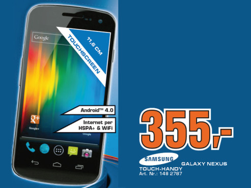 Samsung Galaxy Nexus (i9250) ©Saturn