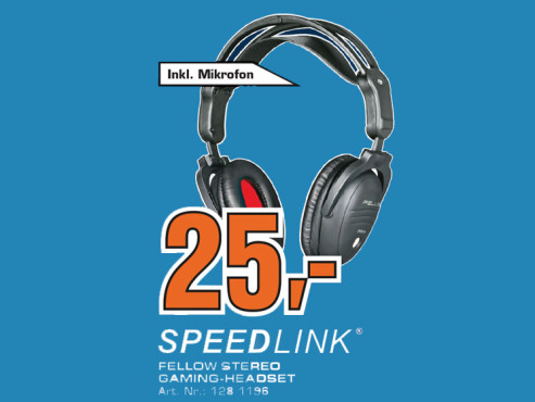 Speed-Link Fellow Stereo Gaming Headset (SL-8780-SBK) © Saturn
