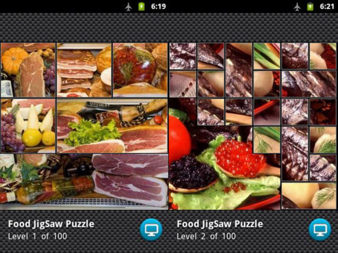 Screenshot Food Puzzle © COMPUTER BILD