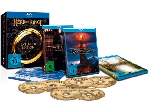 Blu-ray-Box Herr der Ringe Trilogie ©Tchibo