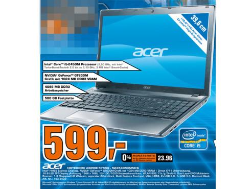 Acer Aspire 5755G 52454G50MNKS ©Saturn