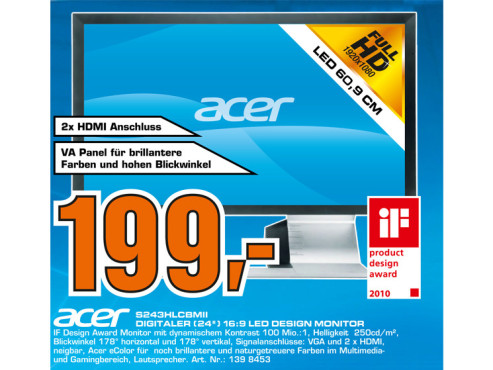 Acer S243HLCbmii ©Saturn