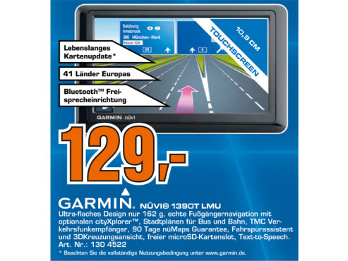 Garmin nüvi 1390T © Saturn