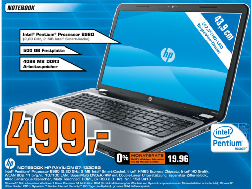 Hewlett-Packard HP Pavilion G7-1330SG © Saturn