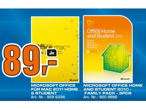 Microsoft Office 2010 Home And Student © Saturn