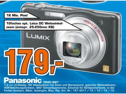 Panasonic Lumix DMC-SZ1 ©Saturn