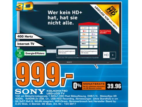 Sony KDL-40HX750 ©Saturn