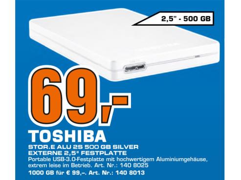 Toshiba StorE Alu 2S 500GB 2.5 silber ©Saturn