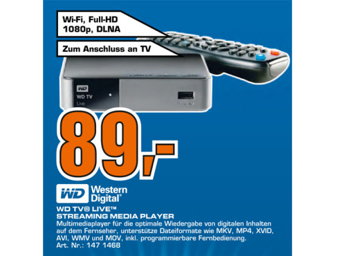 Western Digital WD TV Live WiFi © Saturn