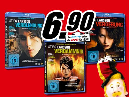Film-Blu-rays (Stieg-Larsson-Trilogie) ©Media Markt