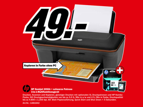Hewlett-Packard HP Deskjet 2050A © Media Markt