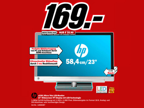 Hewlett-Packard HP X2301 © Media Markt
