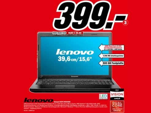 Lenovo Ideapad G575 M523UGE ©Media Markt