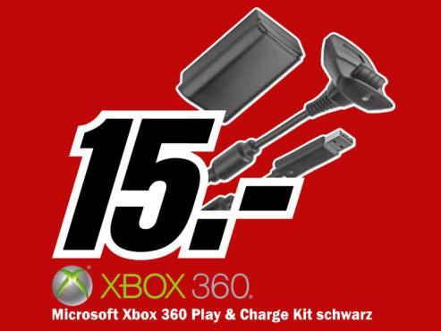 Microsoft Xbox 360 Spiel- und Ladekit ©Media Markt