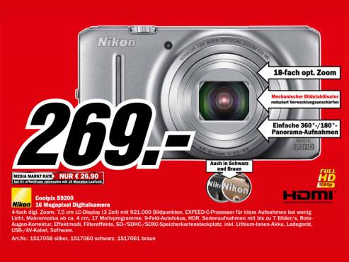 Nikon COOLPIX S9200 ©Media Markt