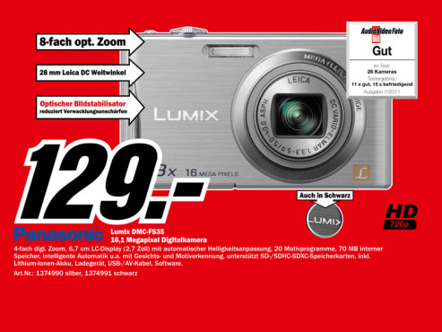Panasonic Lumix DMC-FS35 © Media Markt