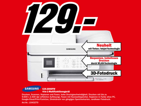 Samsung CJX-2000FW ©Media Markt