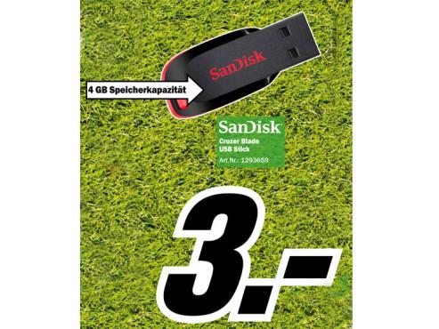 Sandisk Cruzer Blade 4GB ©Media Markt