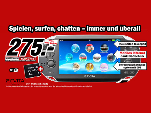 Sony PlayStation Vita 3G + WiFi © Media Markt