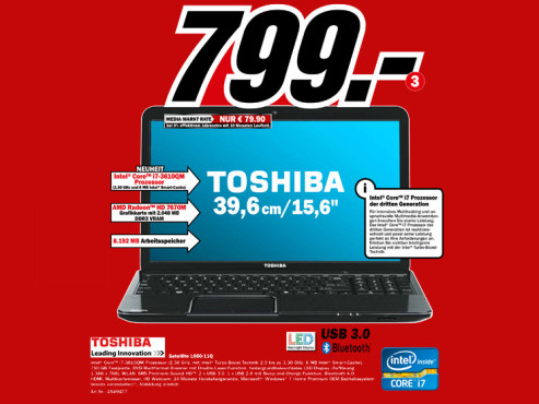 Toshiba Satellite L850-11Q © Media Markt