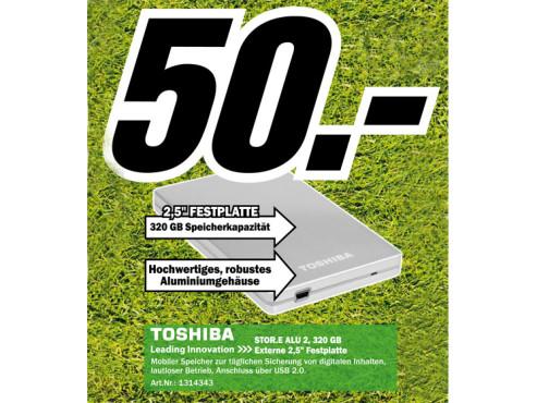 Toshiba StorE Alu2 2.5 320GB ©Media Markt