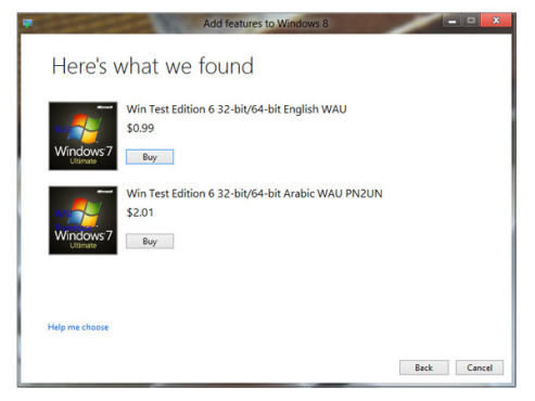 "Windows 8 – ""Features hinzufügen""-Funktion © winsupersite.com"