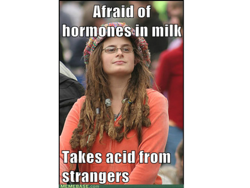 Afraid of hormones in milk – takes acid from strangers © memebase.com