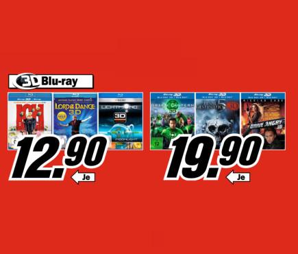 3D-Blu-rays ©Media Markt