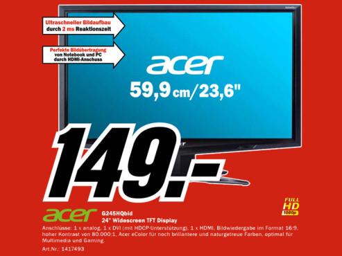 Acer G245HQbid ©Media Markt