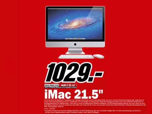 "Apple iMac 21,5"" (MC309) ©Media Markt"