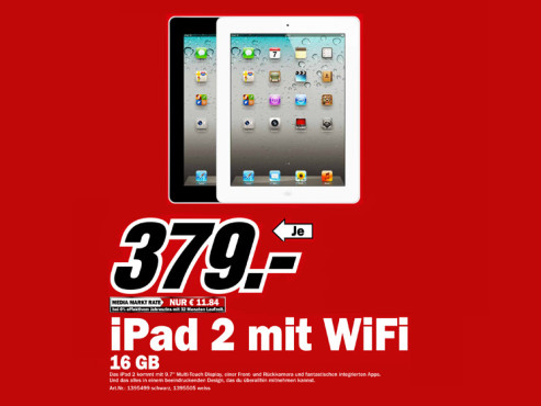 Apple iPad 2 16GB WiFi © Media Markt