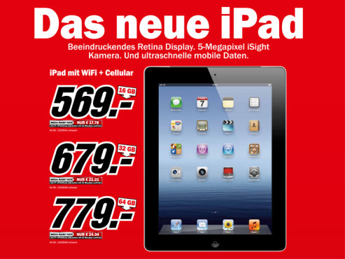 Apple iPad 3 WiFi + 4G © Media Markt