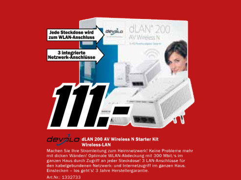 Devolo dLAN 200 AV Wireless N Starter Kit (1612) © Media Markt