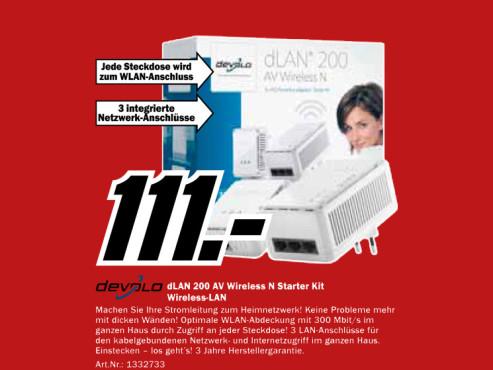 Devolo dLAN 200 AV Wireless N Starter Kit (1612) ©Media Markt