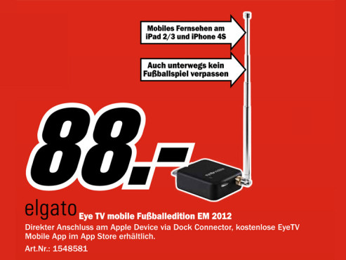 Elgato eyetv mobile TV-Tuner für Apple iPad 2 © Media Markt