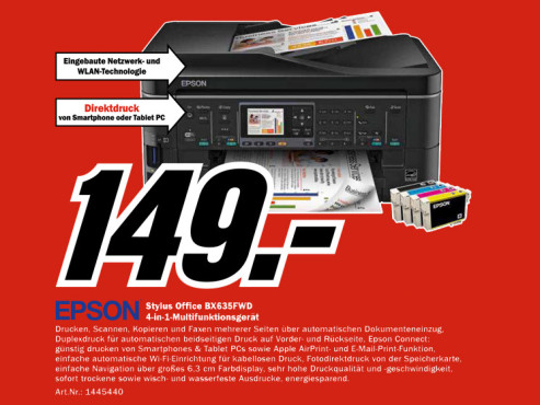 Epson Stylus Office BX635FWD ©Media Markt