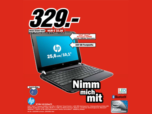 Hewlett-Packard HP Mini 110-4120sg PC © Media Markt
