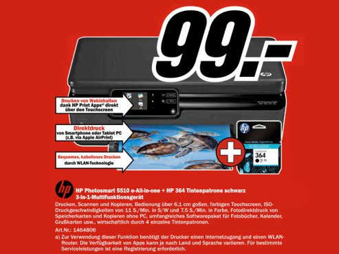 Hewlett-Packard HP Photosmart 5510 © Media Markt